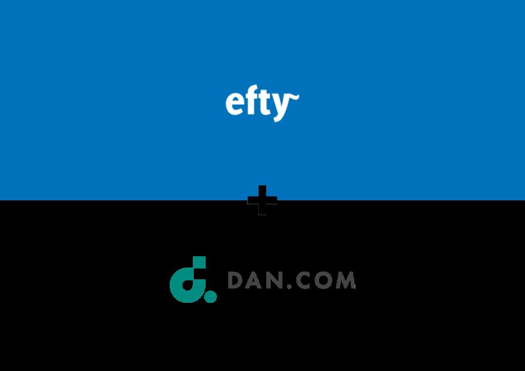 Efty hợp tác với Dan.com
