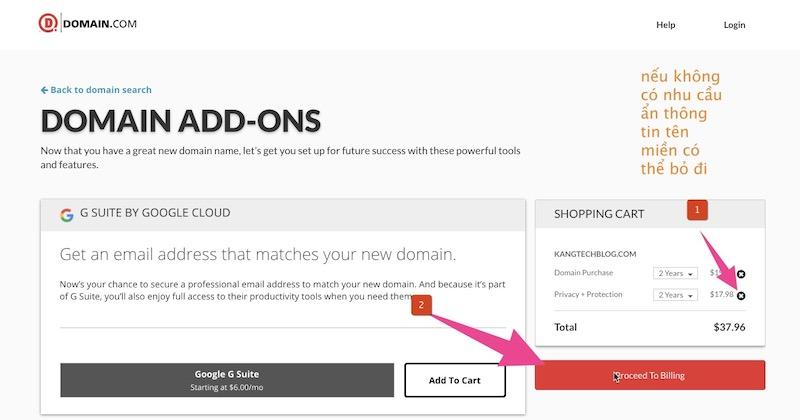 Đăng ký tên miền với Domain.com