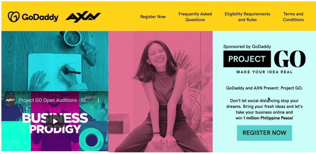 GoDaddy và AXN ra mắt chương trình truyền hình thực tế Philippines dành cho các doanh nhân khởi nghiệp Philippines Project Go